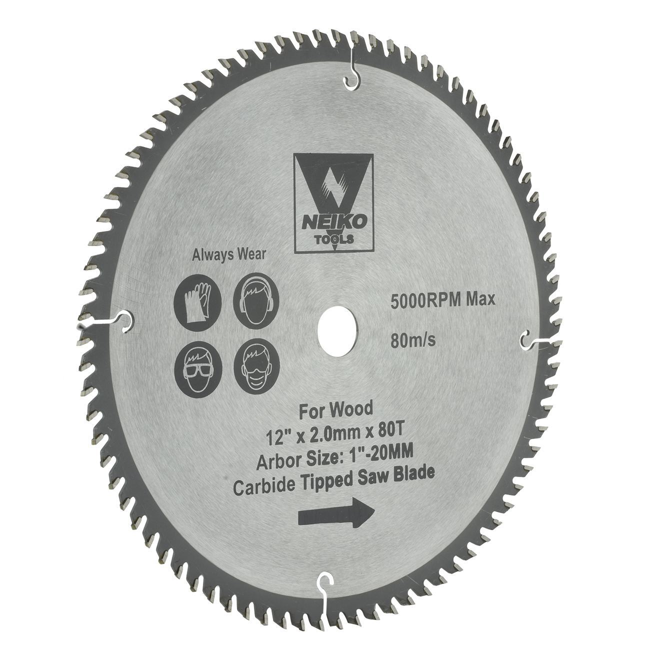 Table Saw Blades For Wood Carbide Tipped 12 Inch X 80 Teeth Ebay