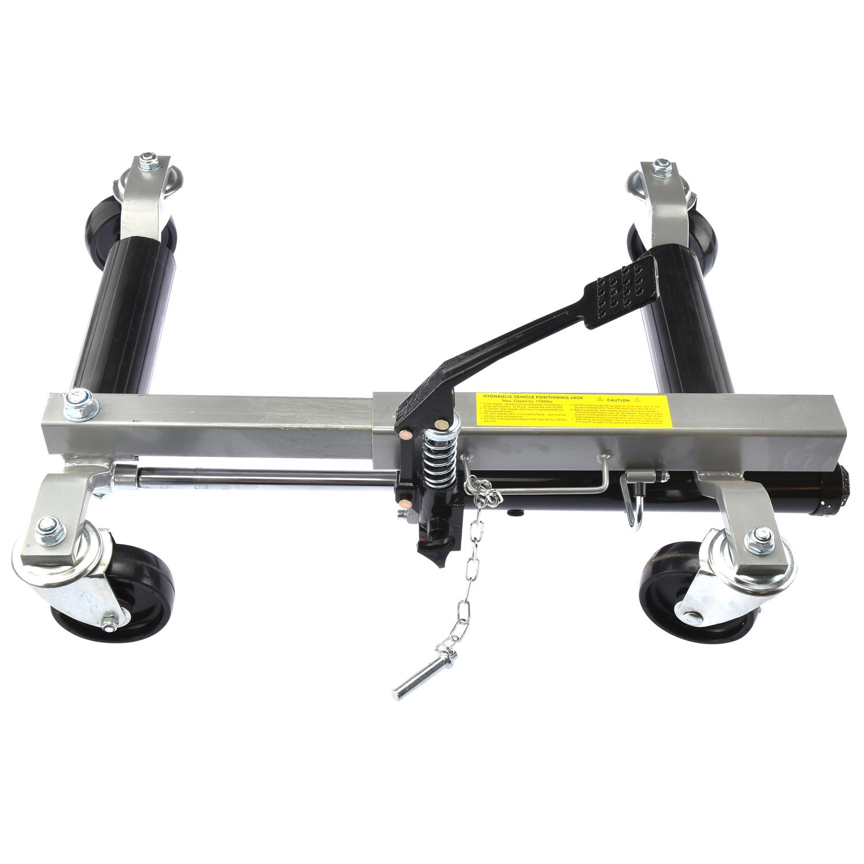 Portable Tire Lift : Wheel dolly lb hydraulic jack portable tire