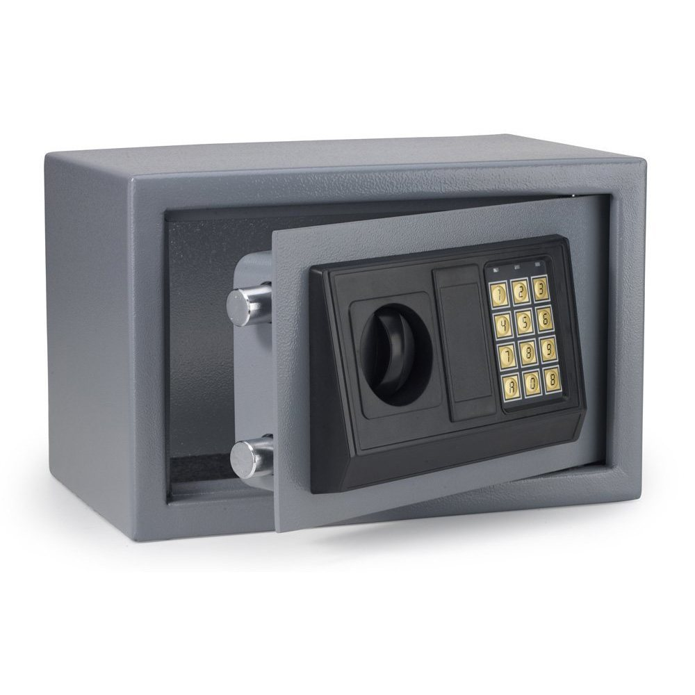 electronic safe 12 digital home security lock box keypad keyless key entry ebay. Black Bedroom Furniture Sets. Home Design Ideas