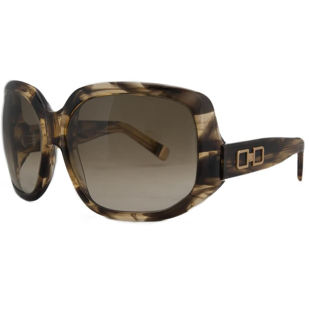 DSquared DQ 0020 50FD Olive Tortoise Oversized Square Full Rim Sunglasses