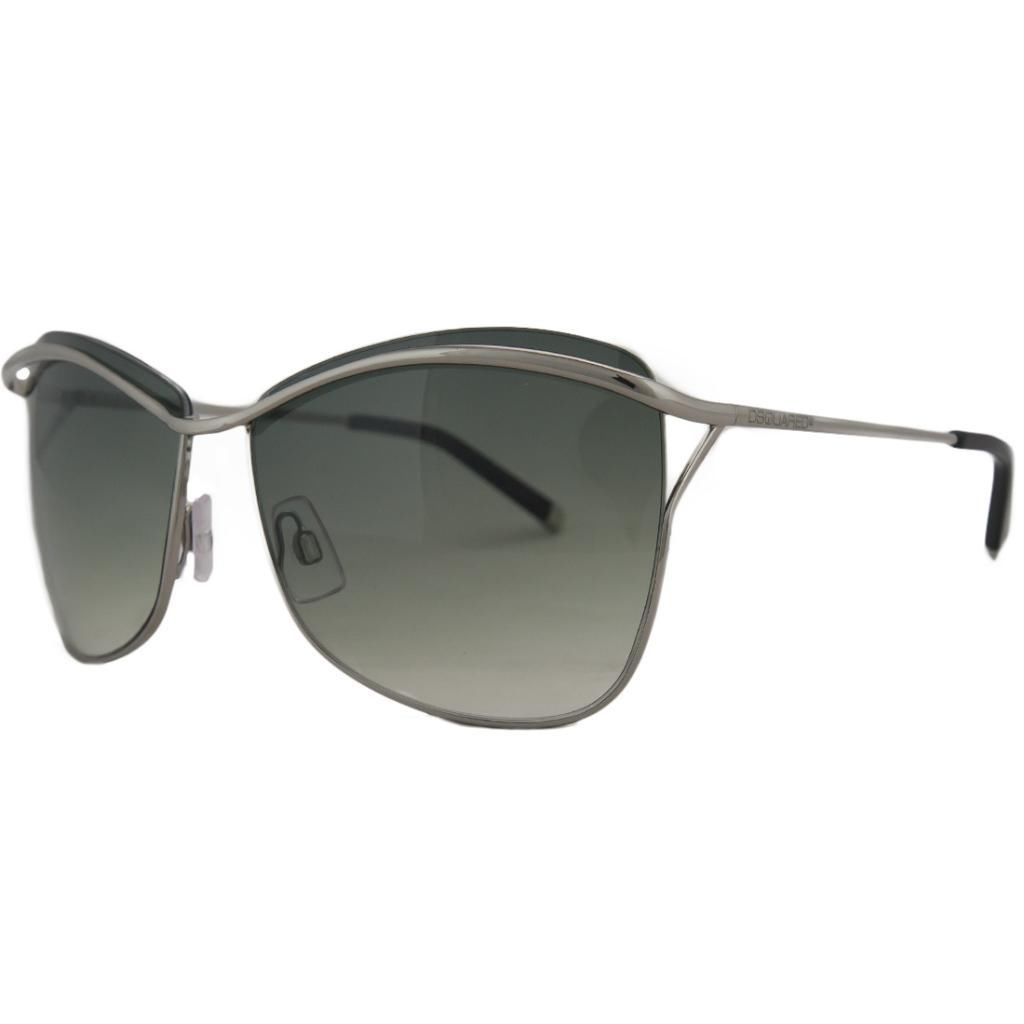 DSquared DQ 0091 14B Silver Square Full Rim Sunglasses