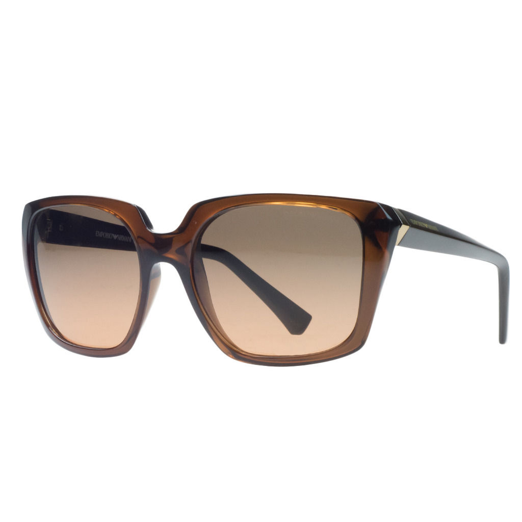 Emporio Armani EA4026 519818 Clear Brown Rectangular Sunglasses