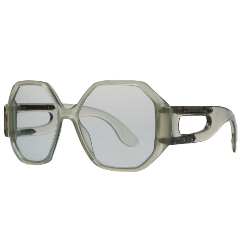 Balenciaga BAL 0132/S 02Q Opale Grey Geometic Square Sunglasses