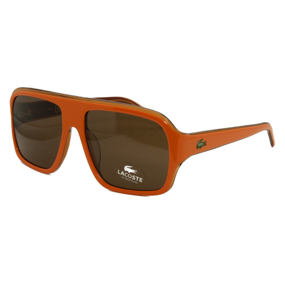 Lacoste L 643S 800 Orange Modified Aviator Sunglasses