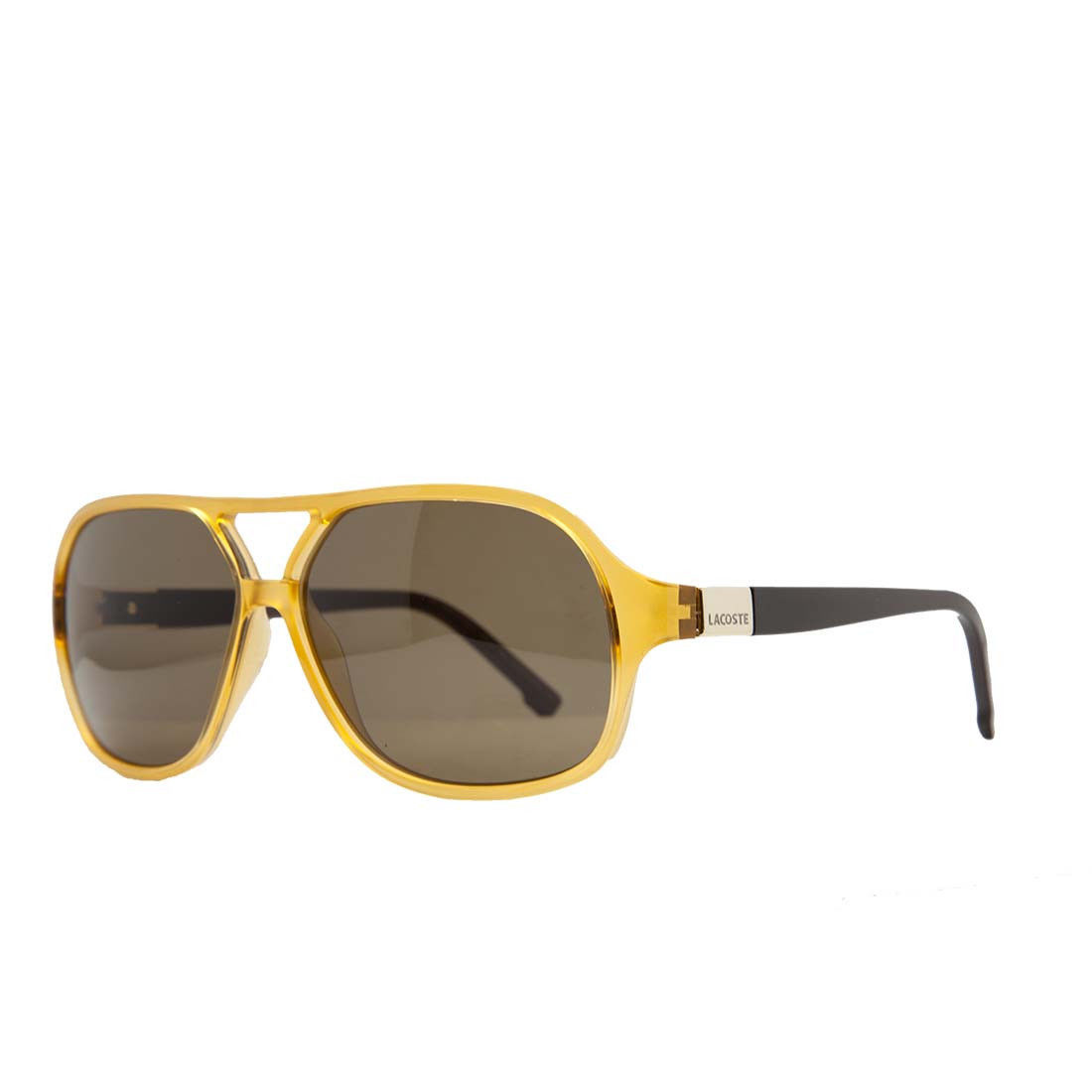 Lacoste L 502S 252 Amber/Brown Modified Aviator Sunglasses