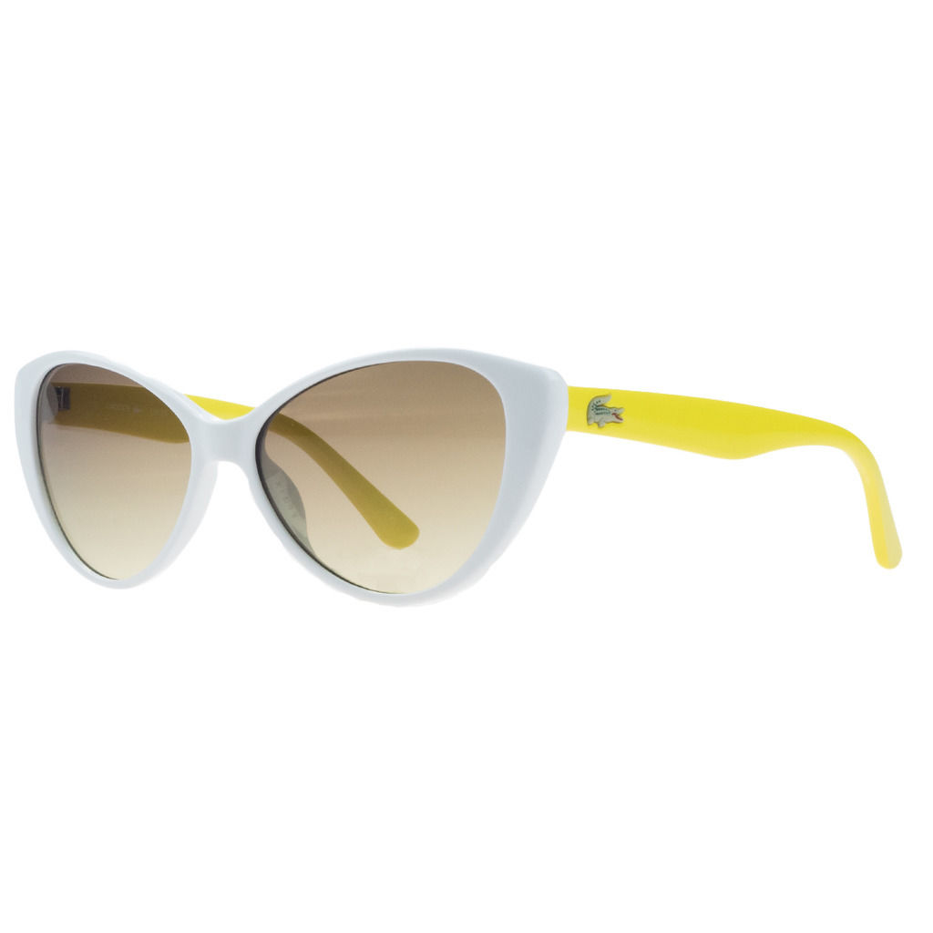 Lacoste L3602/S 105 White Cateye Sunglasses