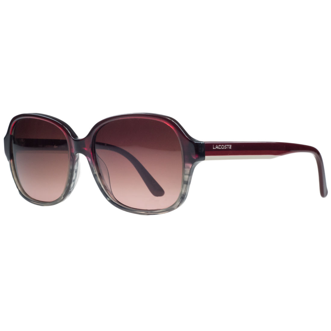 Lacoste L735/S 615 Red/ Brown Gradient Square Sunglasses