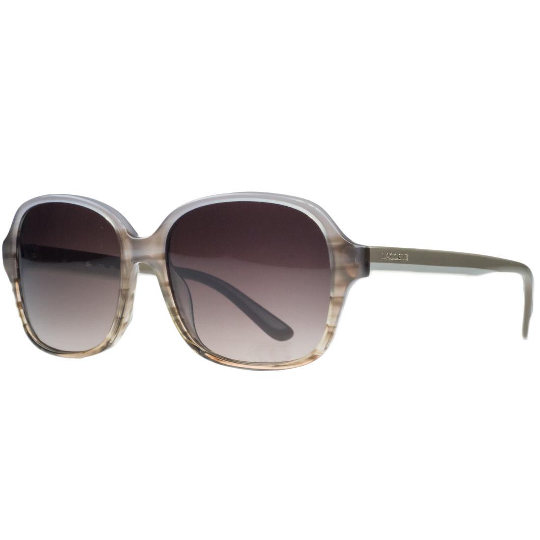 Lacoste L735/S 632 Beige Striped Square Sunglasses