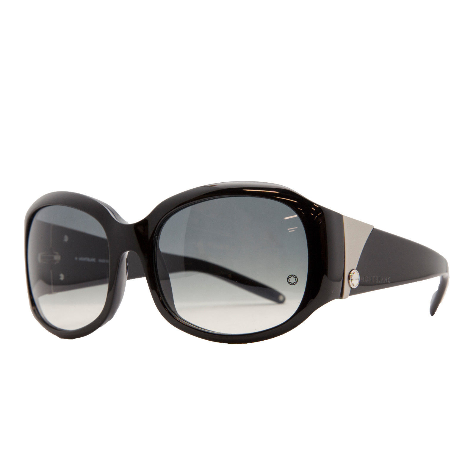 Mont Blanc MB 222/S 0B5 Black Oval Sunglasses