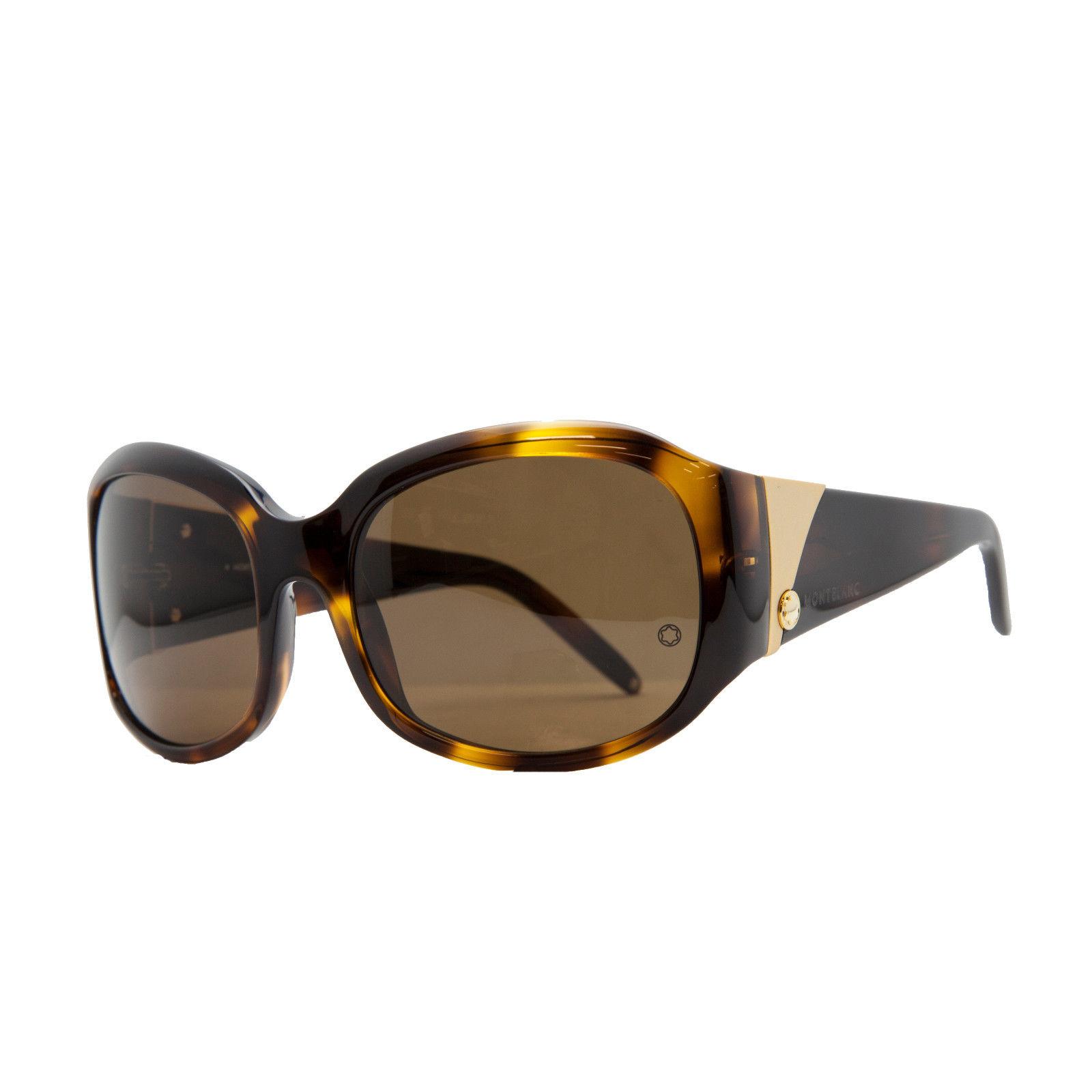 Mont Blanc MB 22S/S 096 Havana Oval Sunglasses