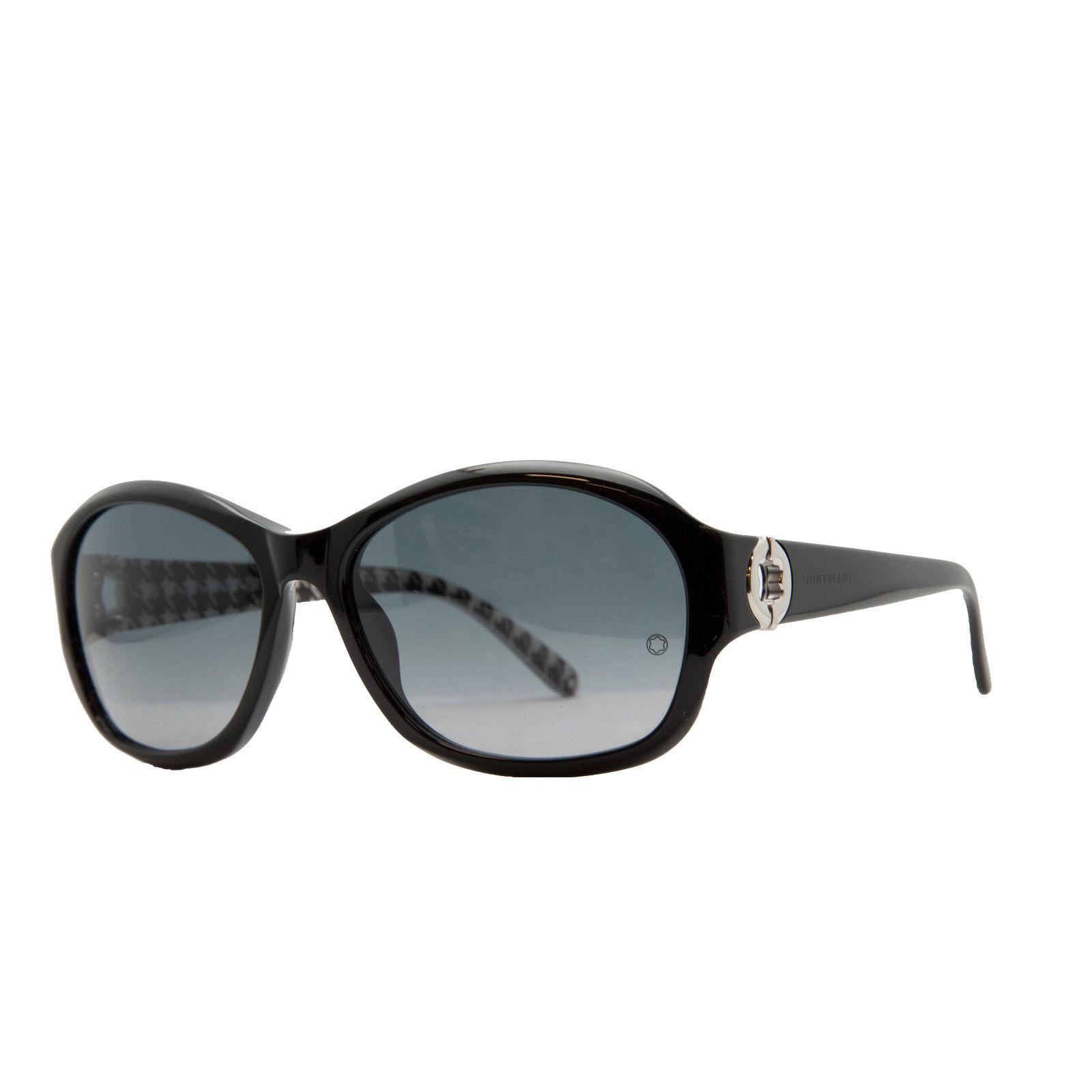 Mont Blanc MB 357/S 01B Black Oval Sunglasses