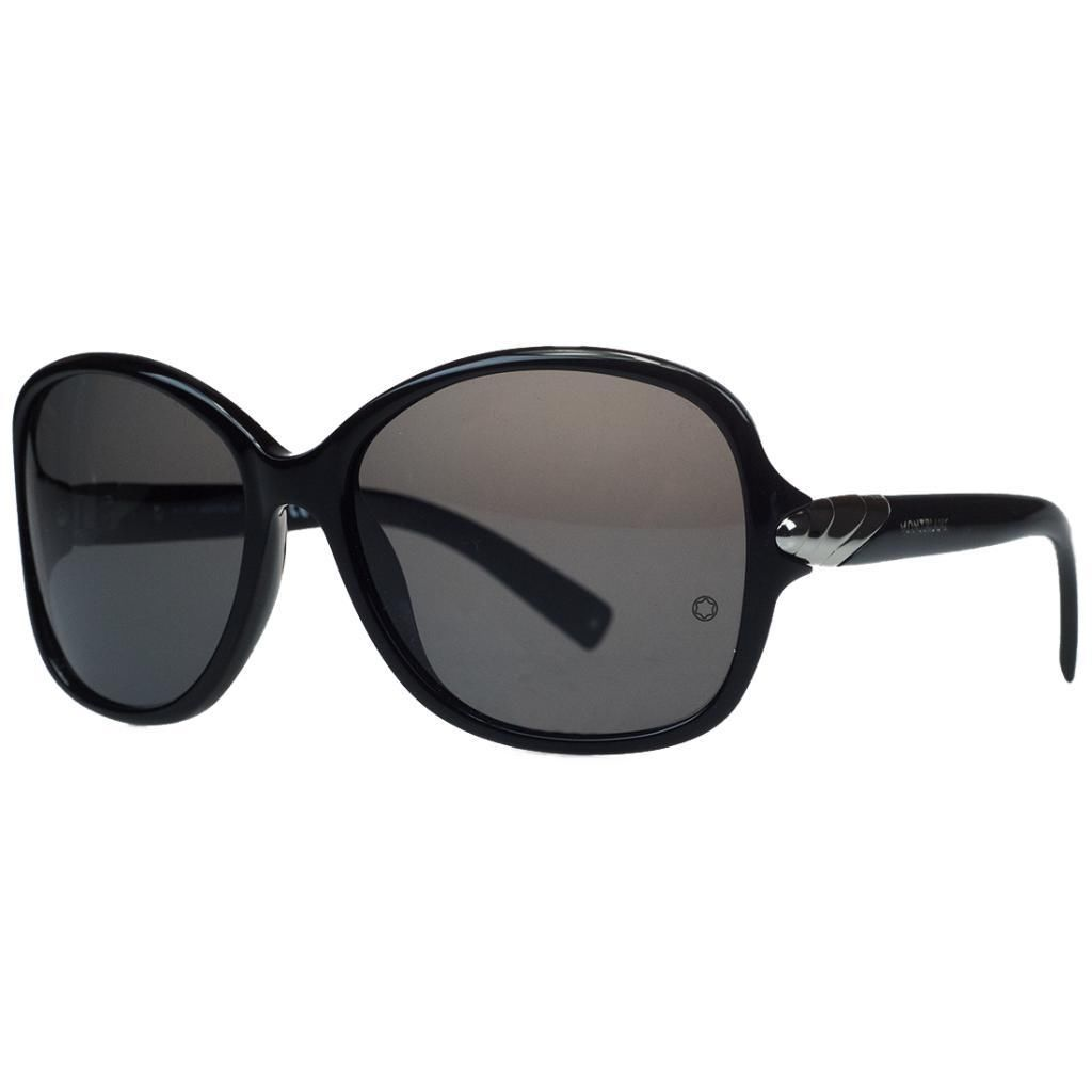 Montblanc MB412/S 01A Black Square Sunglasses