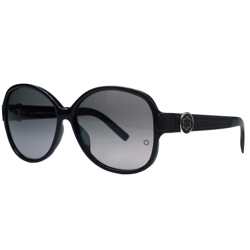Montblanc MB419/S 01B Black Round Sunglasses