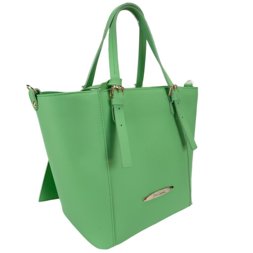 Pierre Cardin 1335 VERDE  Green  Structured Tote/Shoulder Bag