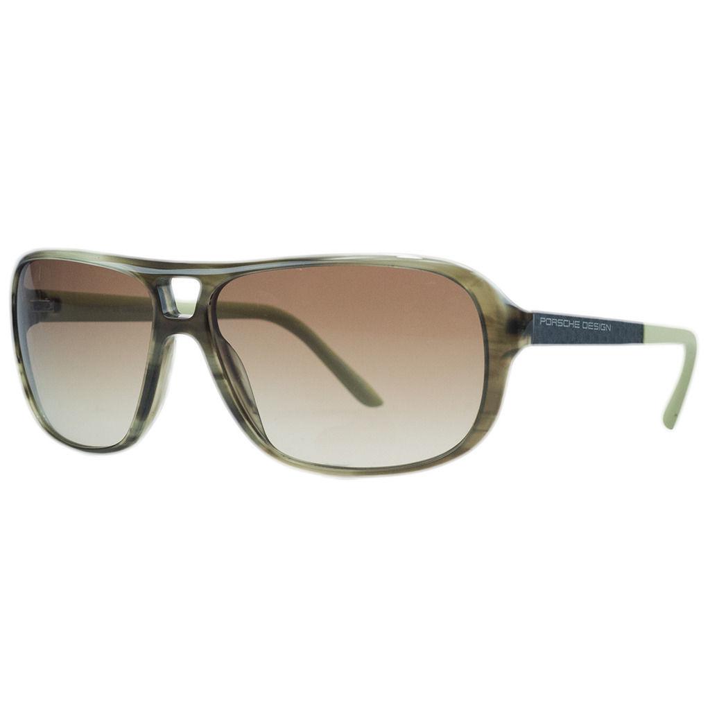Porsche P8557-B Olive Horn Aviator Sunglasses