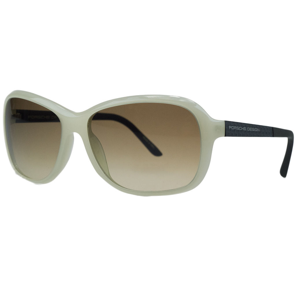 Porsche P8558-C Ivory Rectangular Sunglasses