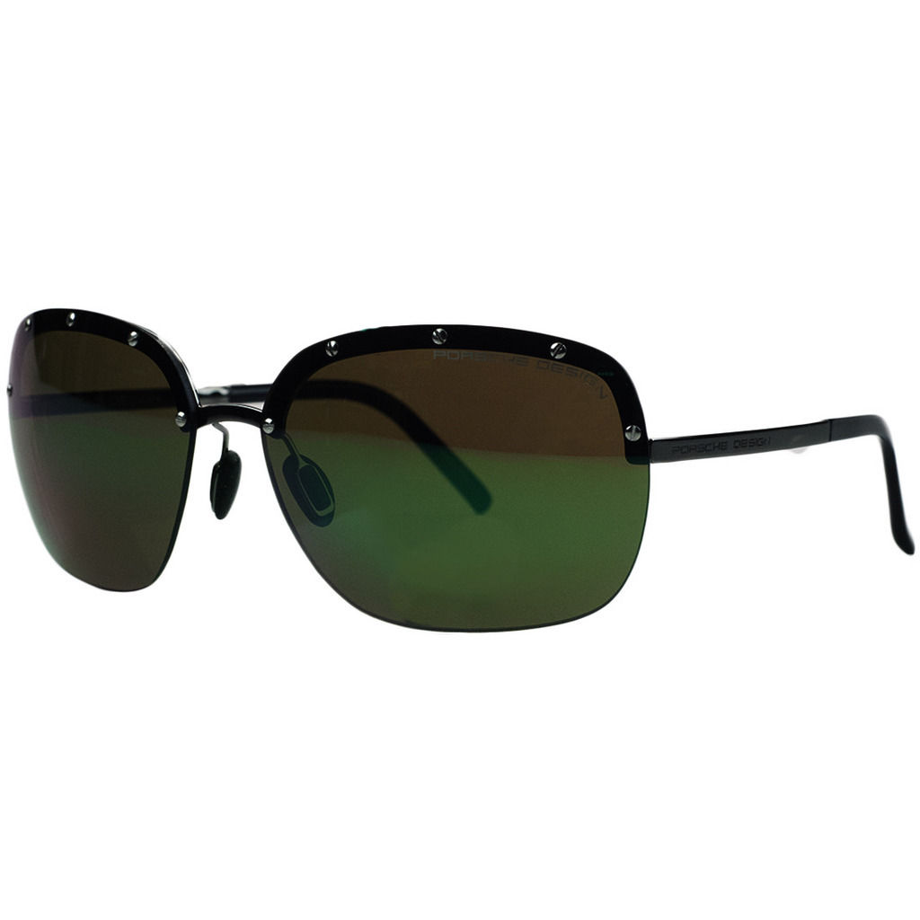 Porsche P8576-A Ruthenium Square Sunglasses
