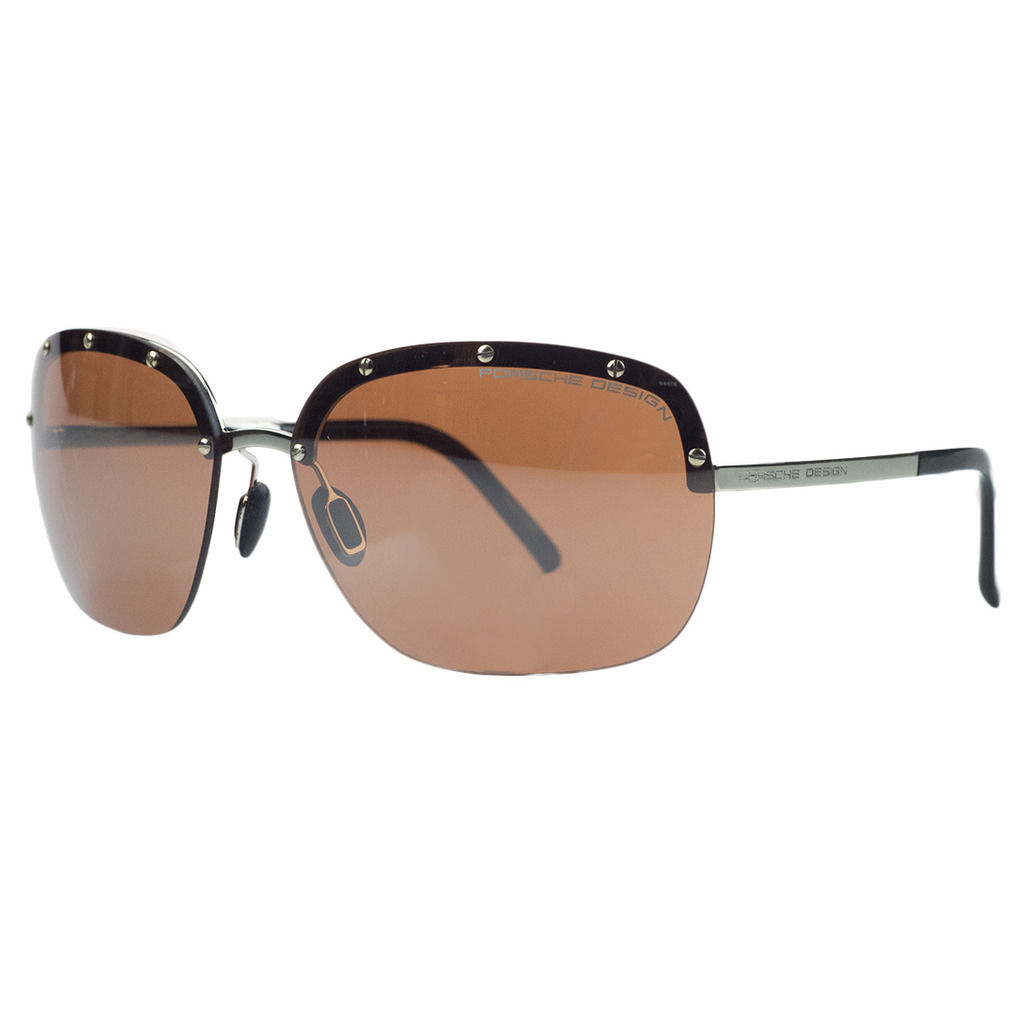 Porsche P8576-B Gold Square Sunglasses