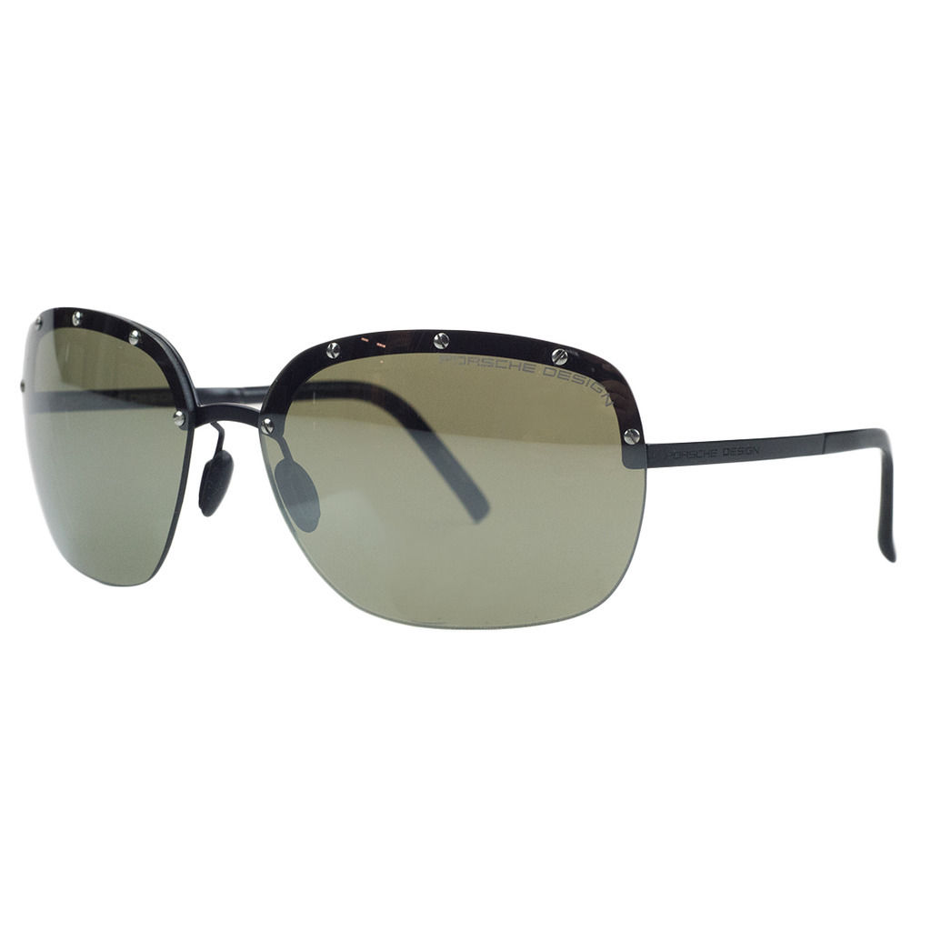 Porsche P8576-C Black Square Sunglasses