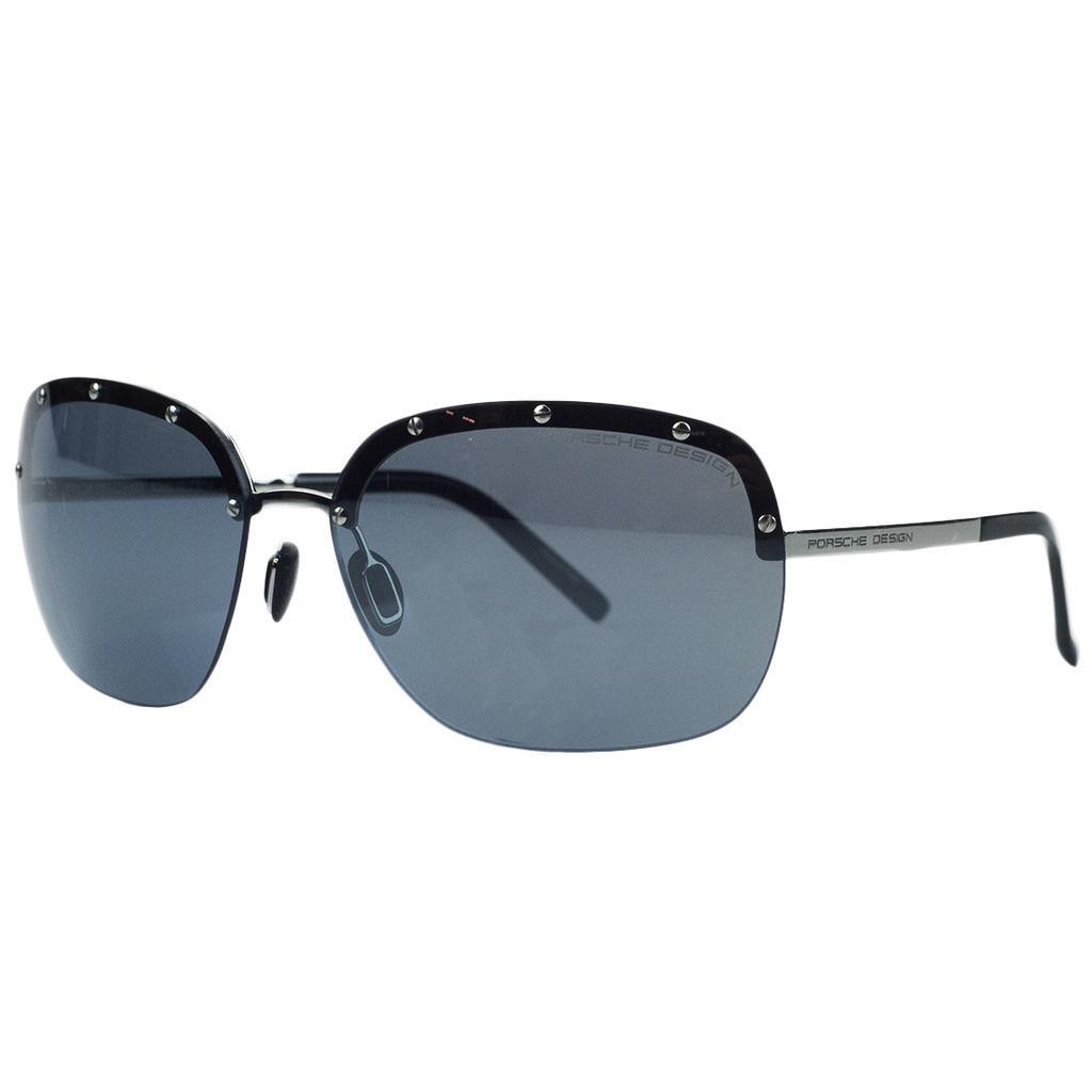 Porsche P8576-D Silver Square Sunglasses
