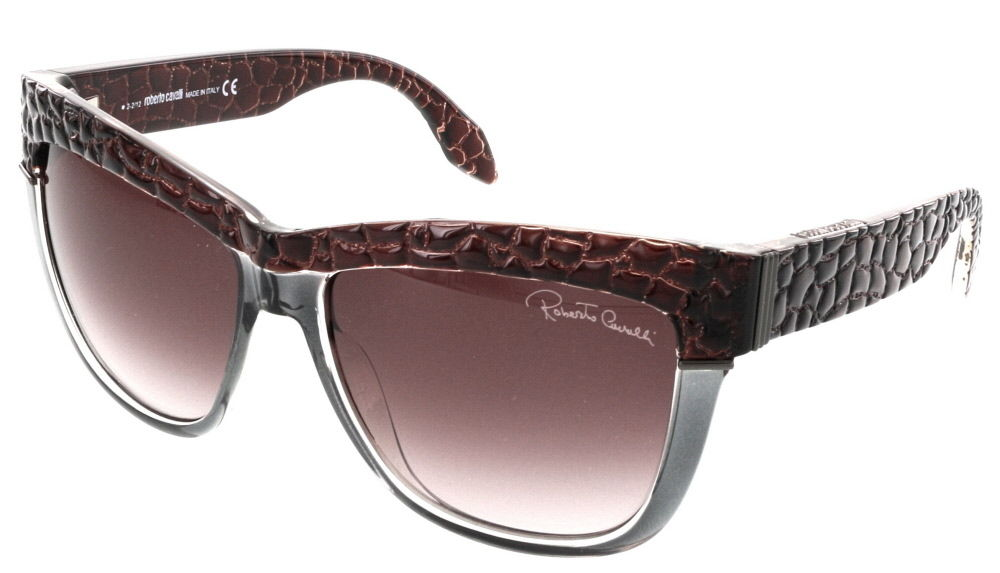 Roberto Cavalli RC 739S/S 71Z REA Brown/Grey Gradient Wayfarer Sunglasses