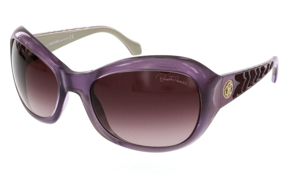 Roberto Cavalli RC 794S/S 81T ALDHIBAH Purple Rectangular Sunglasses