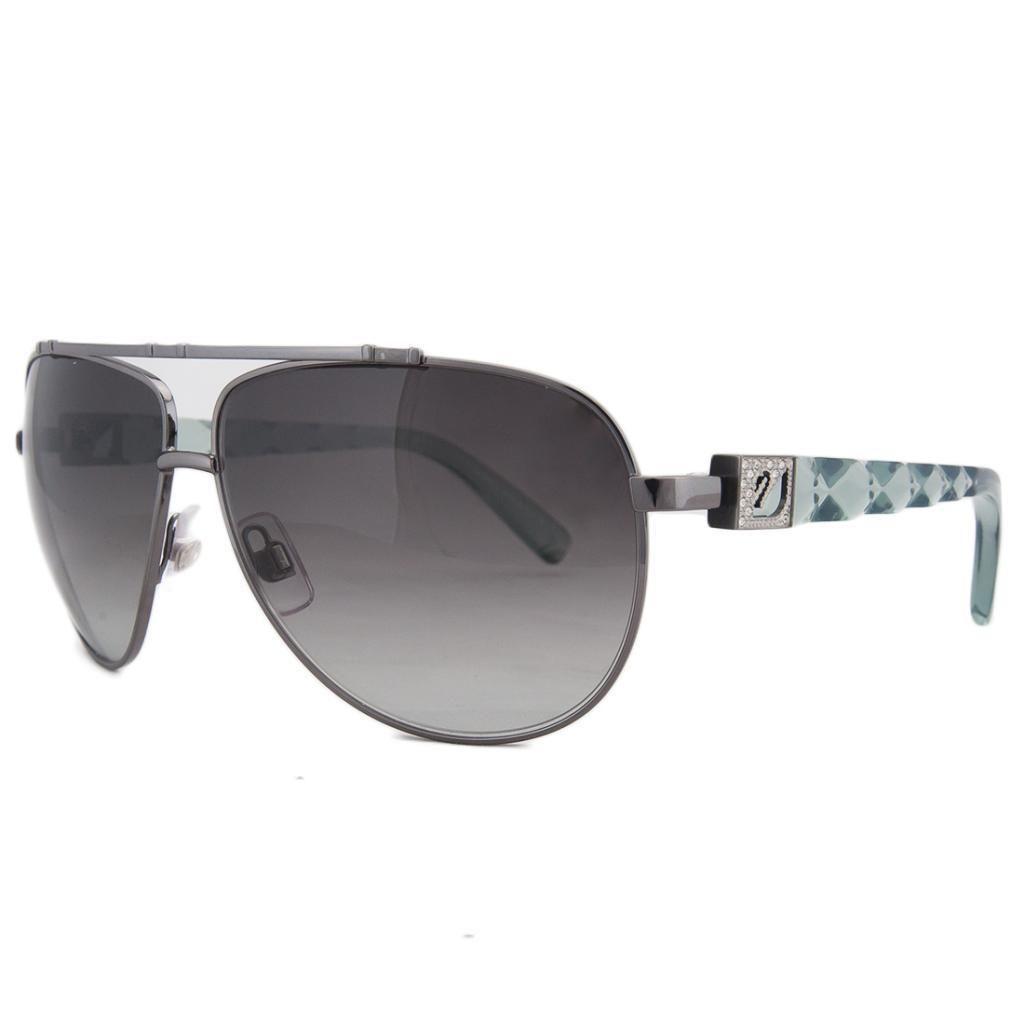 Swarovski SK 0003 12B Gunmetal/Blue Aviator Prismic Sunglasses
