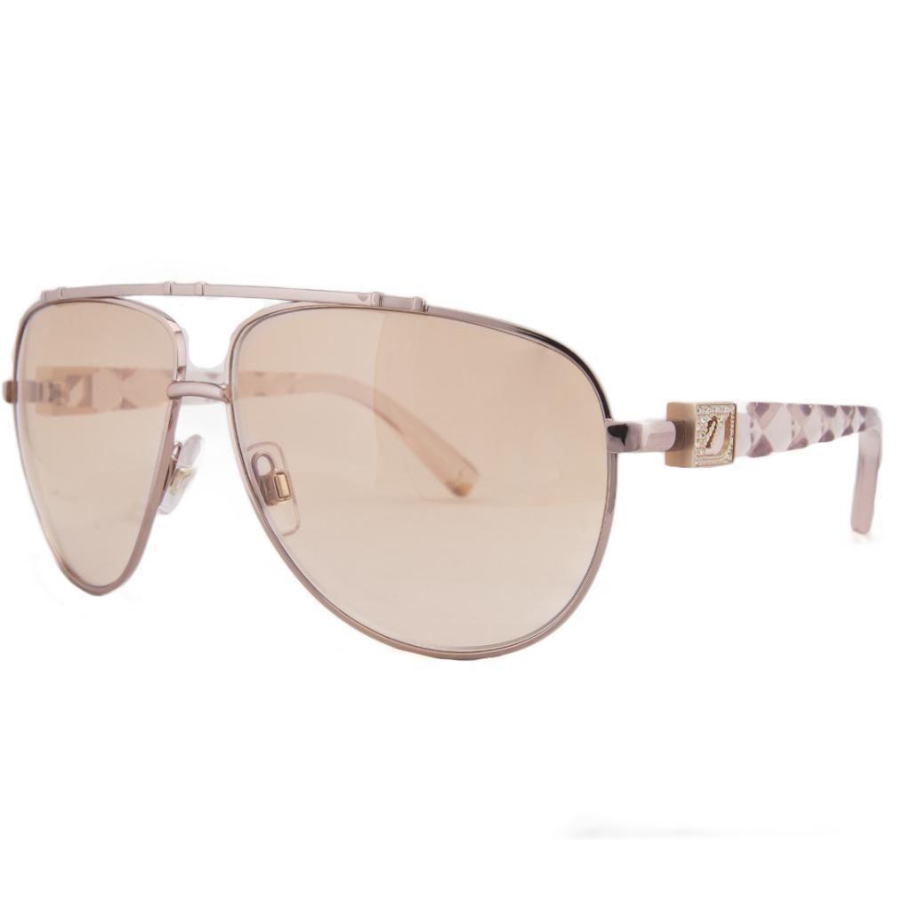 Swarovski SK 0003 72F Rose Gold/Pink Aviator Prismic Sunglasses