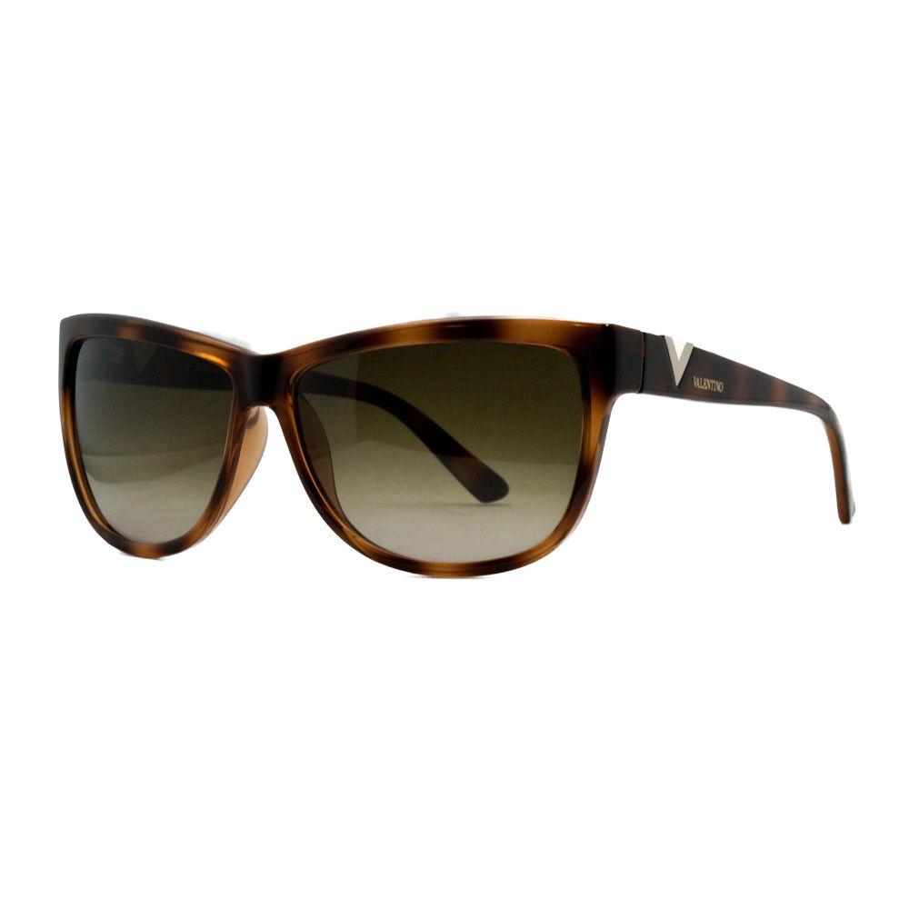 Valentino V 614S 215 Dark Havana Classic Wayfarer Sunglasses