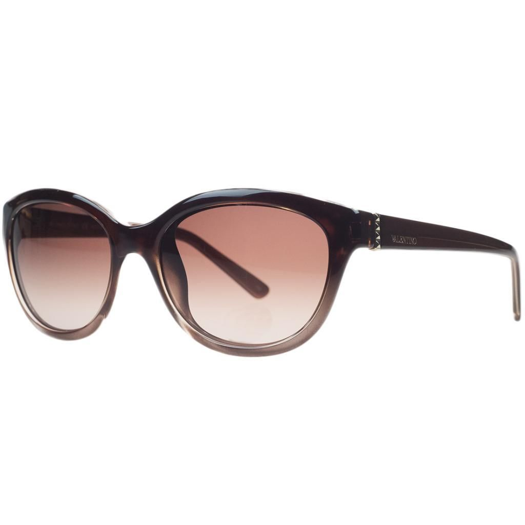 Valentino V 636/S 233 Gradient Rust Oval Sunglasses