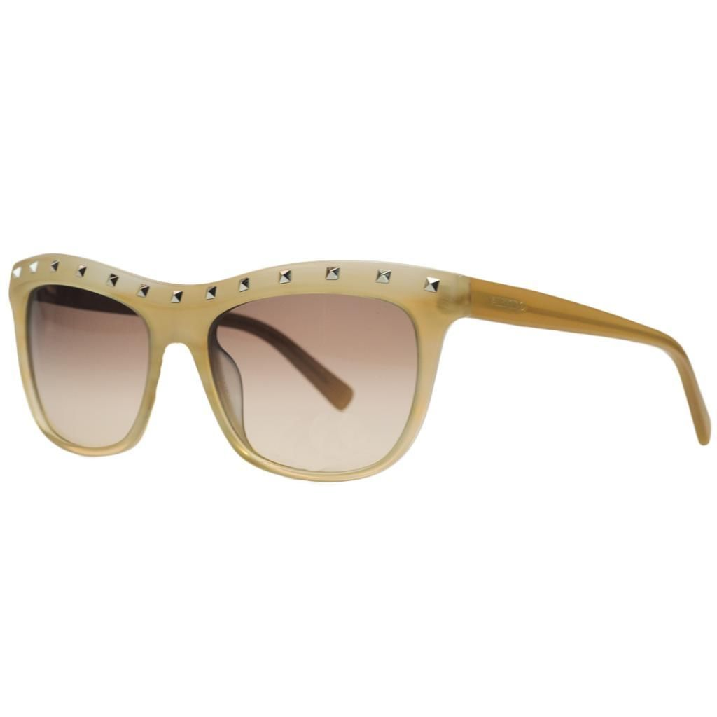 Valentino V 650/S 265 Striped Beige Wayfarer Sunglasses