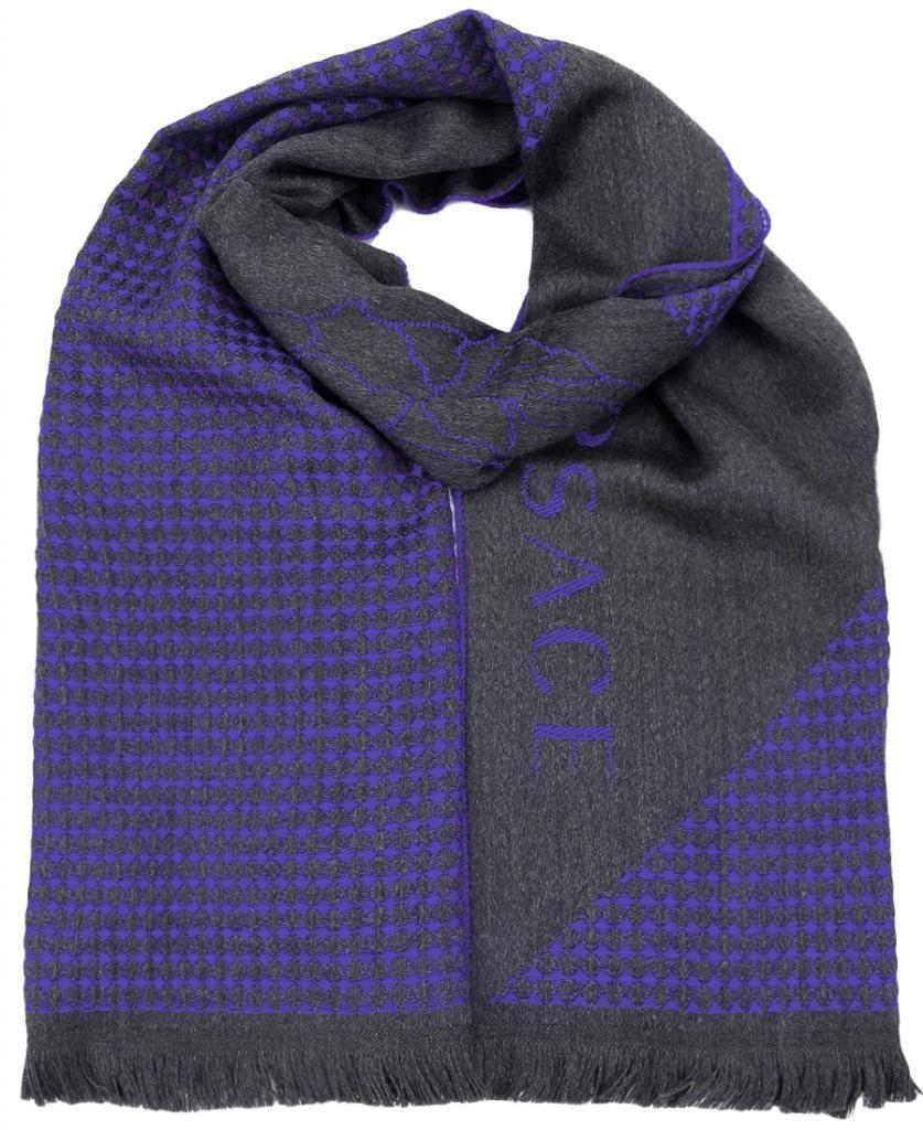Versace VHB0125 004 Neat Pattern Purple 100% Wool Mens' Scarf