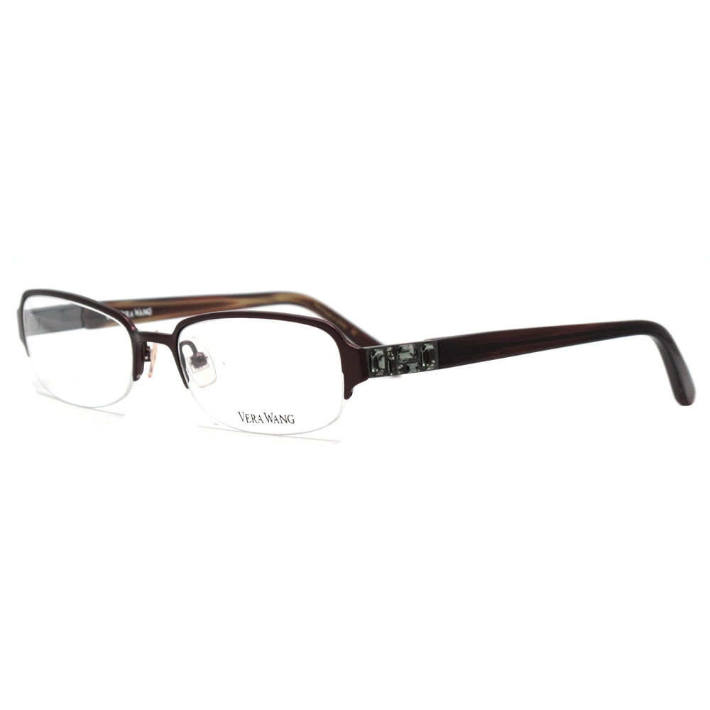 Vera Wang V 040 BU 50 Burgundy Metal Clear  Optical Frame