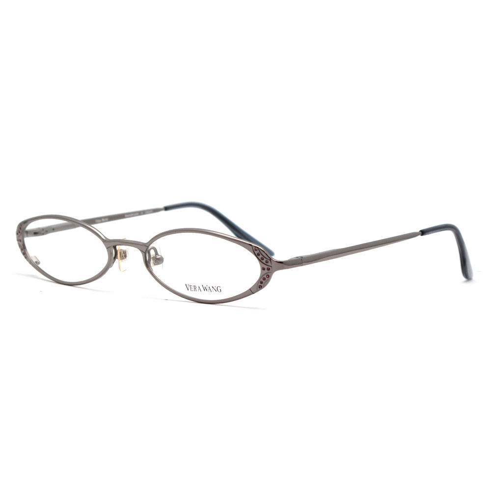 Vera Wang V 130 CB 51 Carbon Metal Crystal Embellished Womens Optical Frame