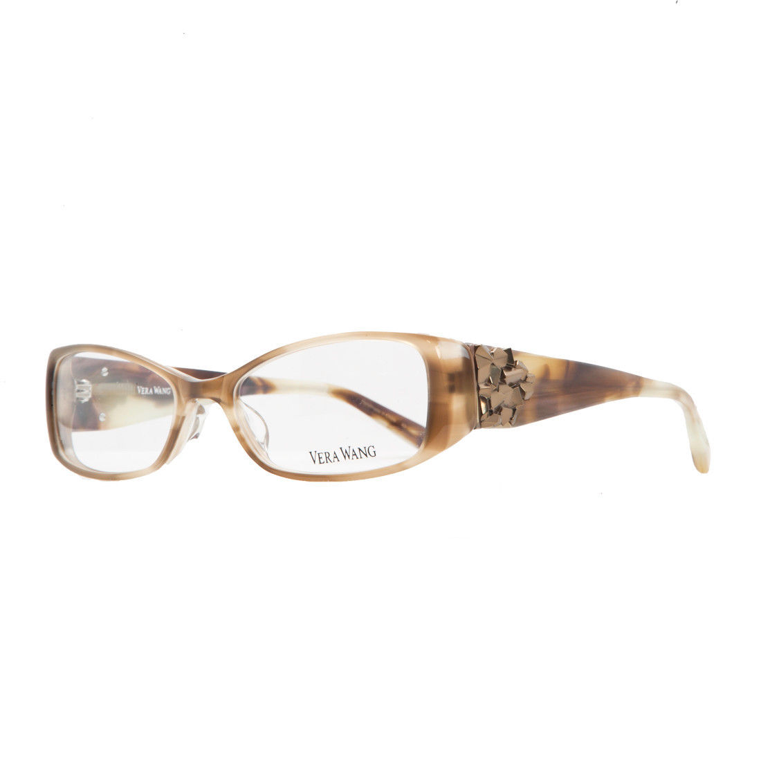 Vera Wang V 076 BR 51 Brown Full Rim Womens Optical Frame