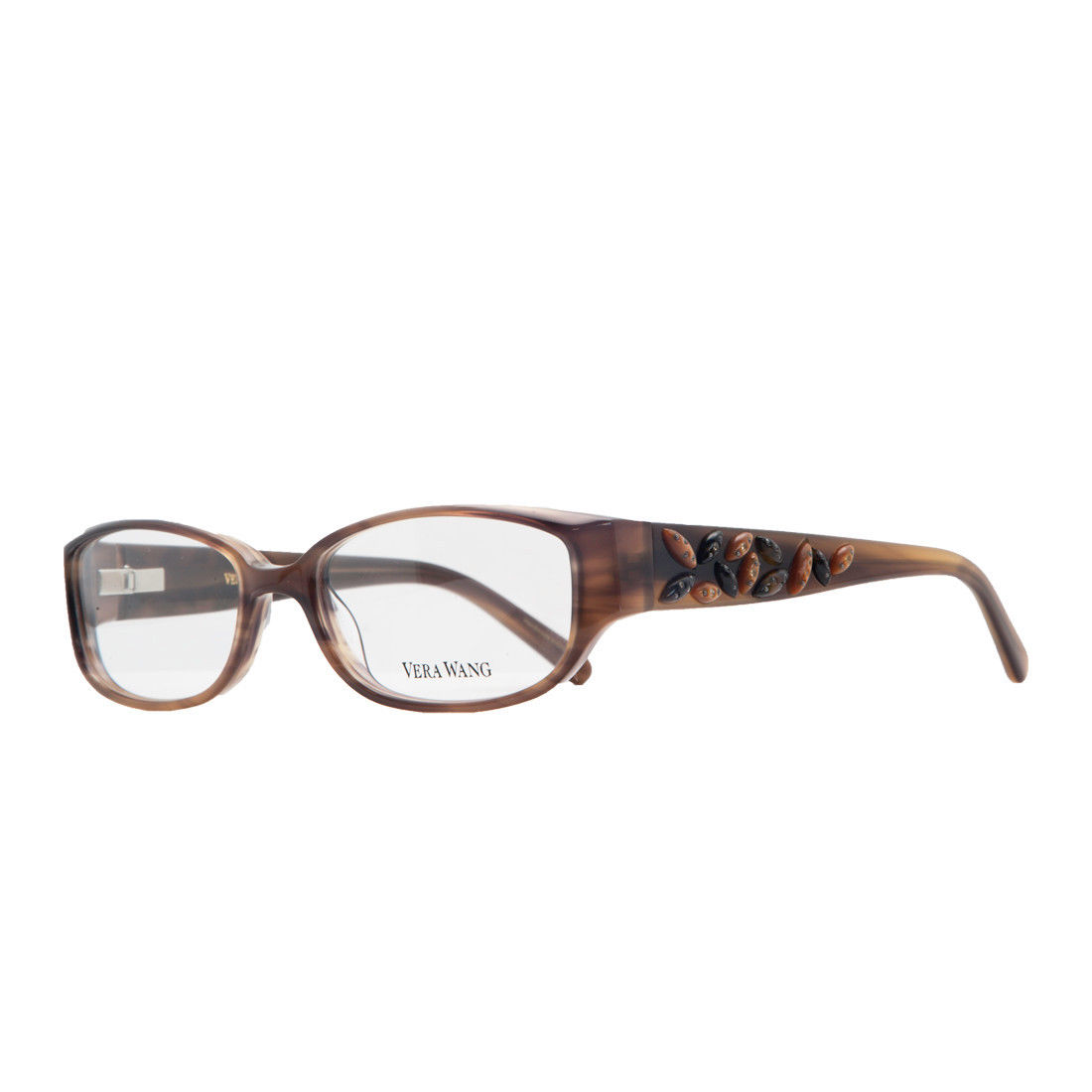 Vera Wang V 088 BR 49 Brown Full Rim Womens Optical Frame