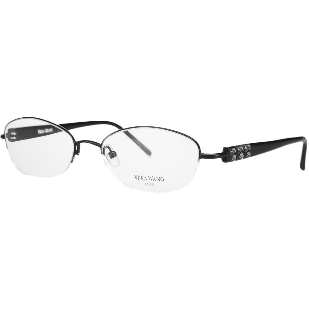 Vera Wang ALLURE BK 52 Black Half Rim Oval Optical Frame