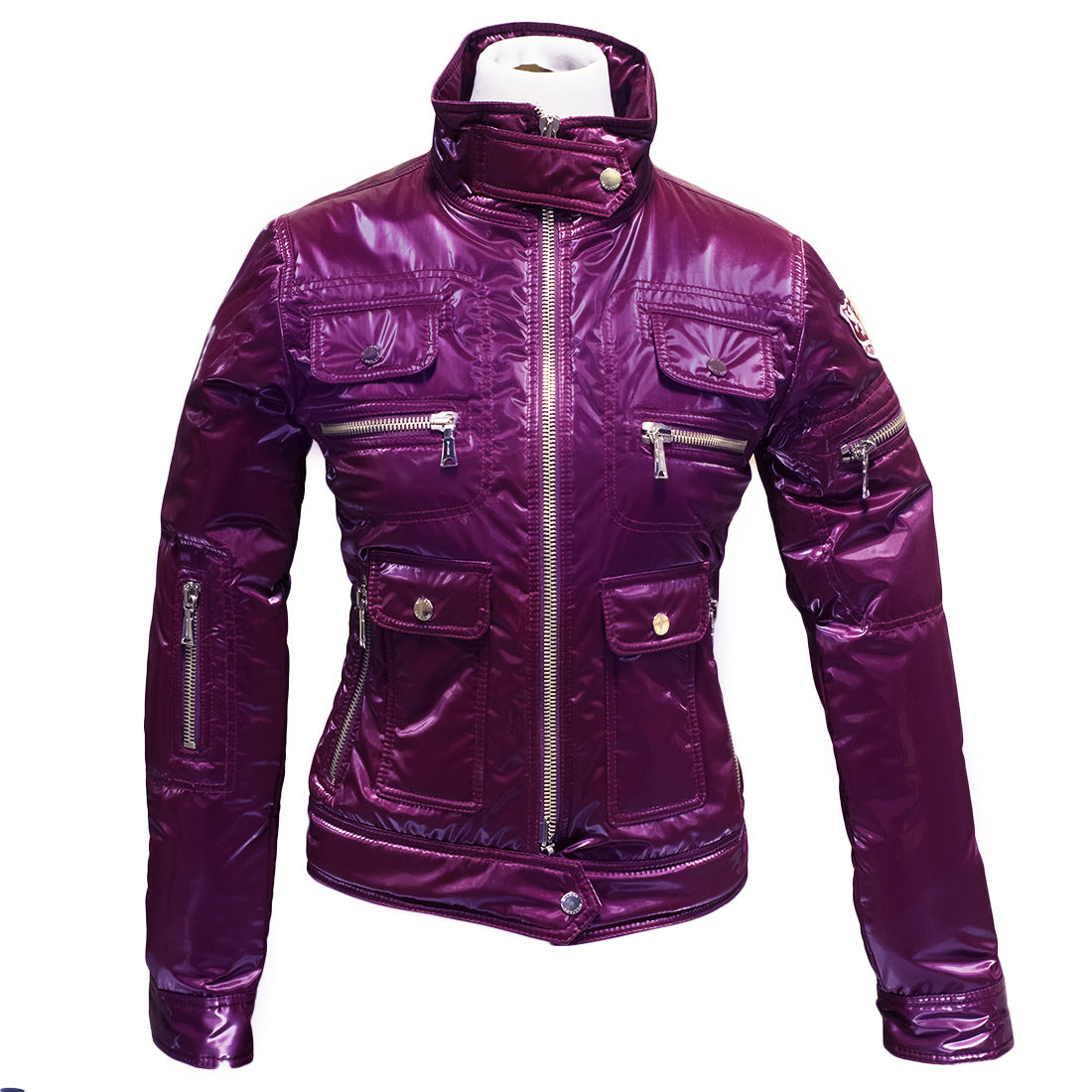 Aureka Cyclamino Magenta Padded Women's Cropped Jacket