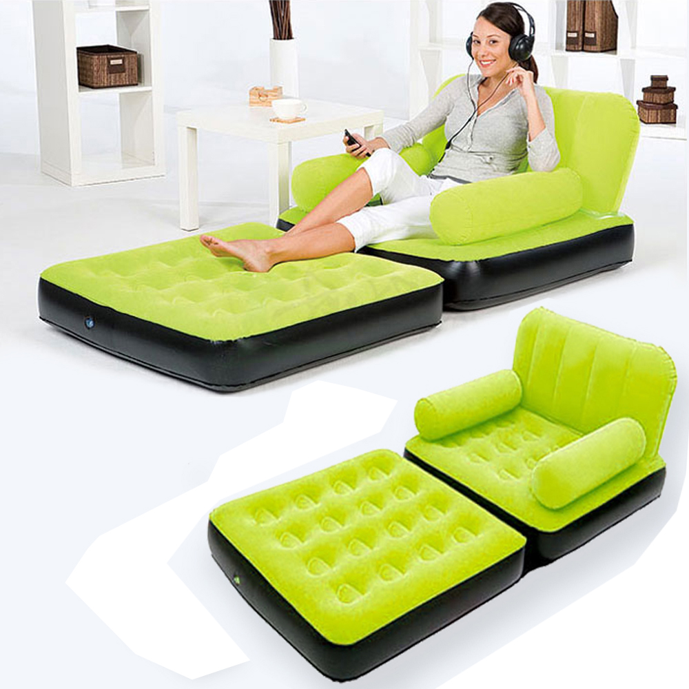 house inflatable pull out sofa couch full double air bed. Black Bedroom Furniture Sets. Home Design Ideas