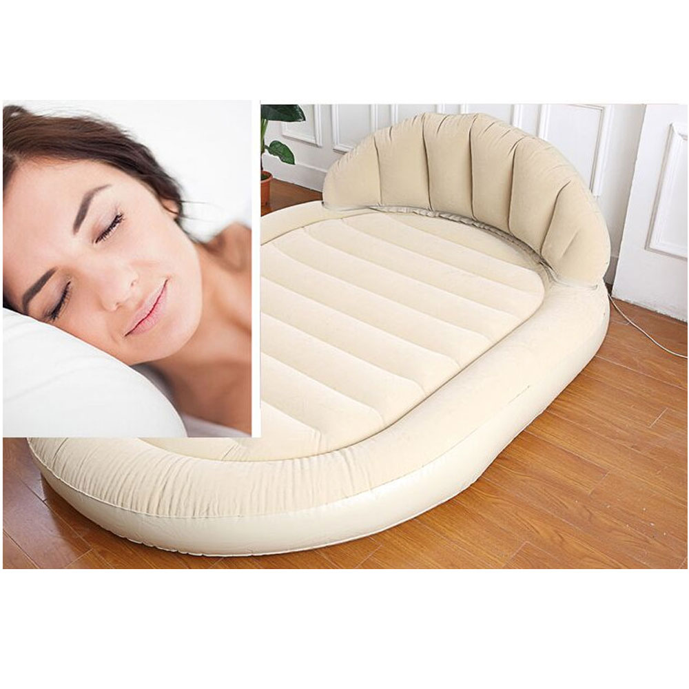 Inflatable Sofa Mattress: BEIGE DAYBED LOUNGER AIR INFLATABLE SOFA COUCH MATTRESS