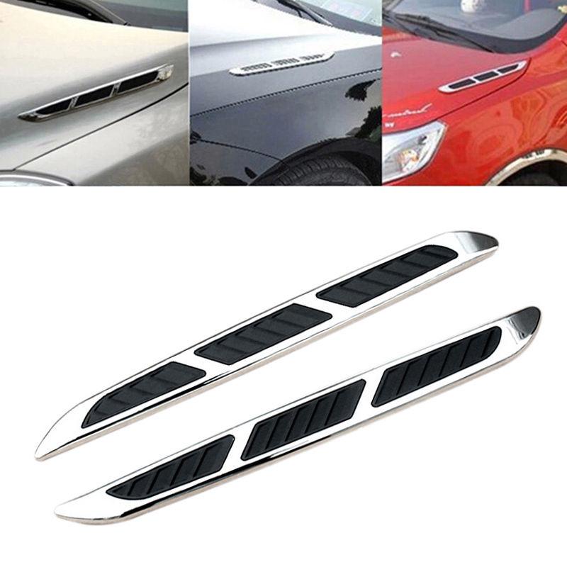 2 X Car Shark Gill Simulation Vent Hood Side Hole Air Intake Exterior Decorate Ebay