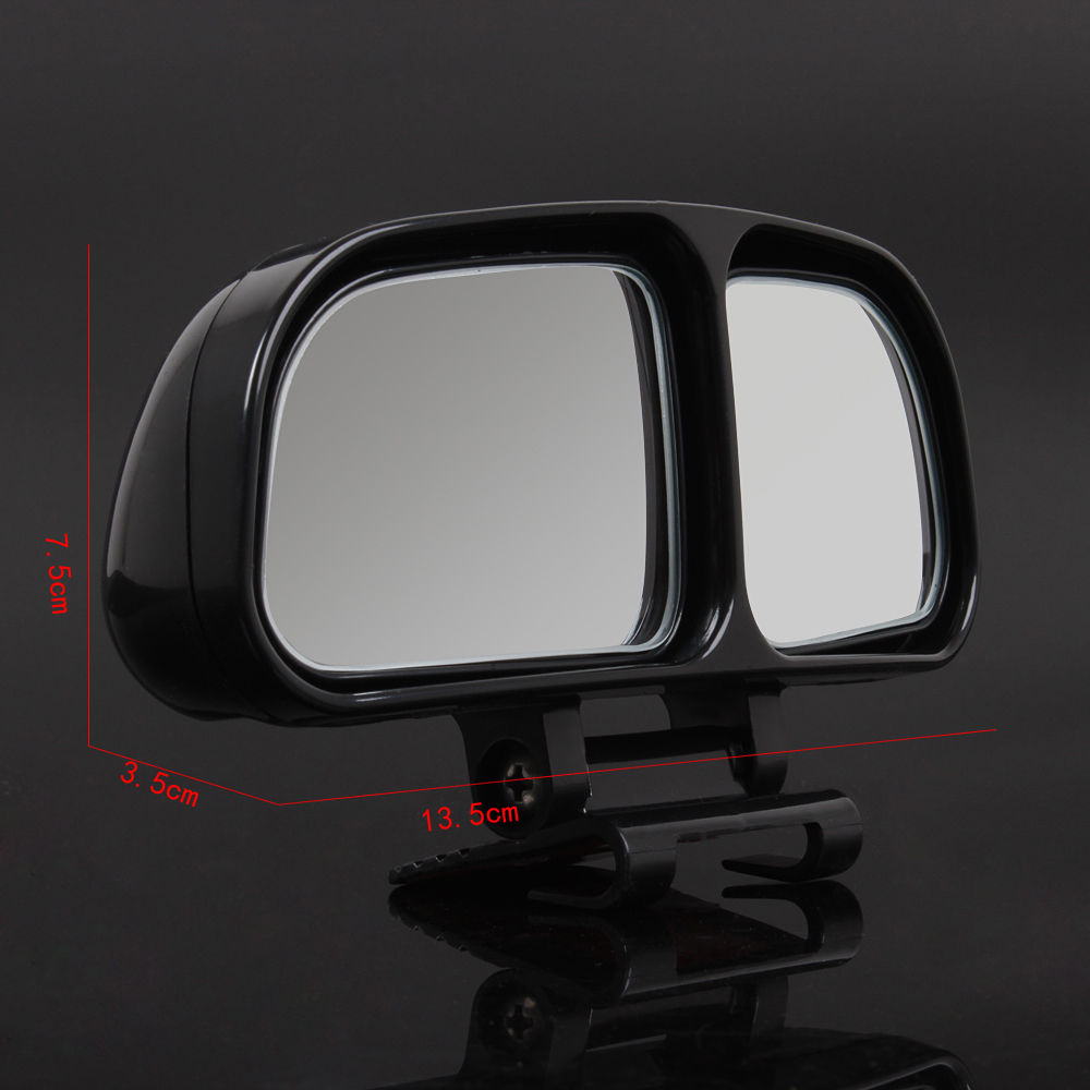 Vehicle Towing Mirrors : Pcs adjustable black blind spot mirrors vehicle car