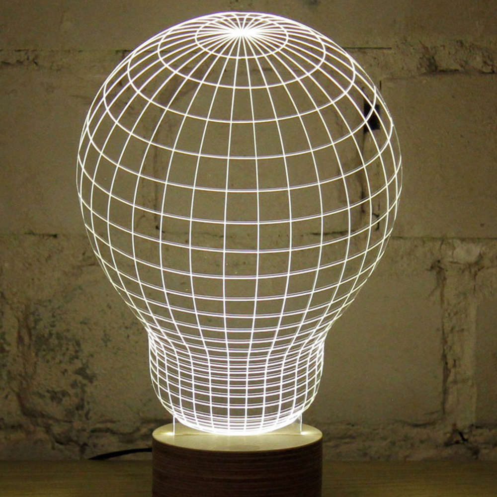 3D Illusion Creative Skull Lamp LED Night Light