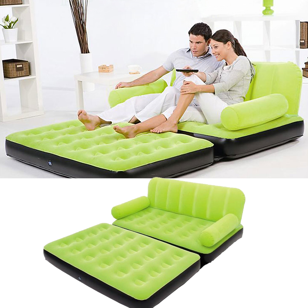 Inflatable pull out sofa couch full double air bed Air bed sofa sleeper