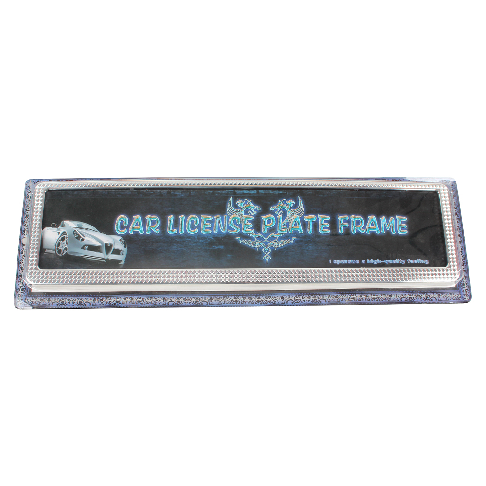 1pcs European EU Car Plastic License Plate Frames Number Plate Frame ...