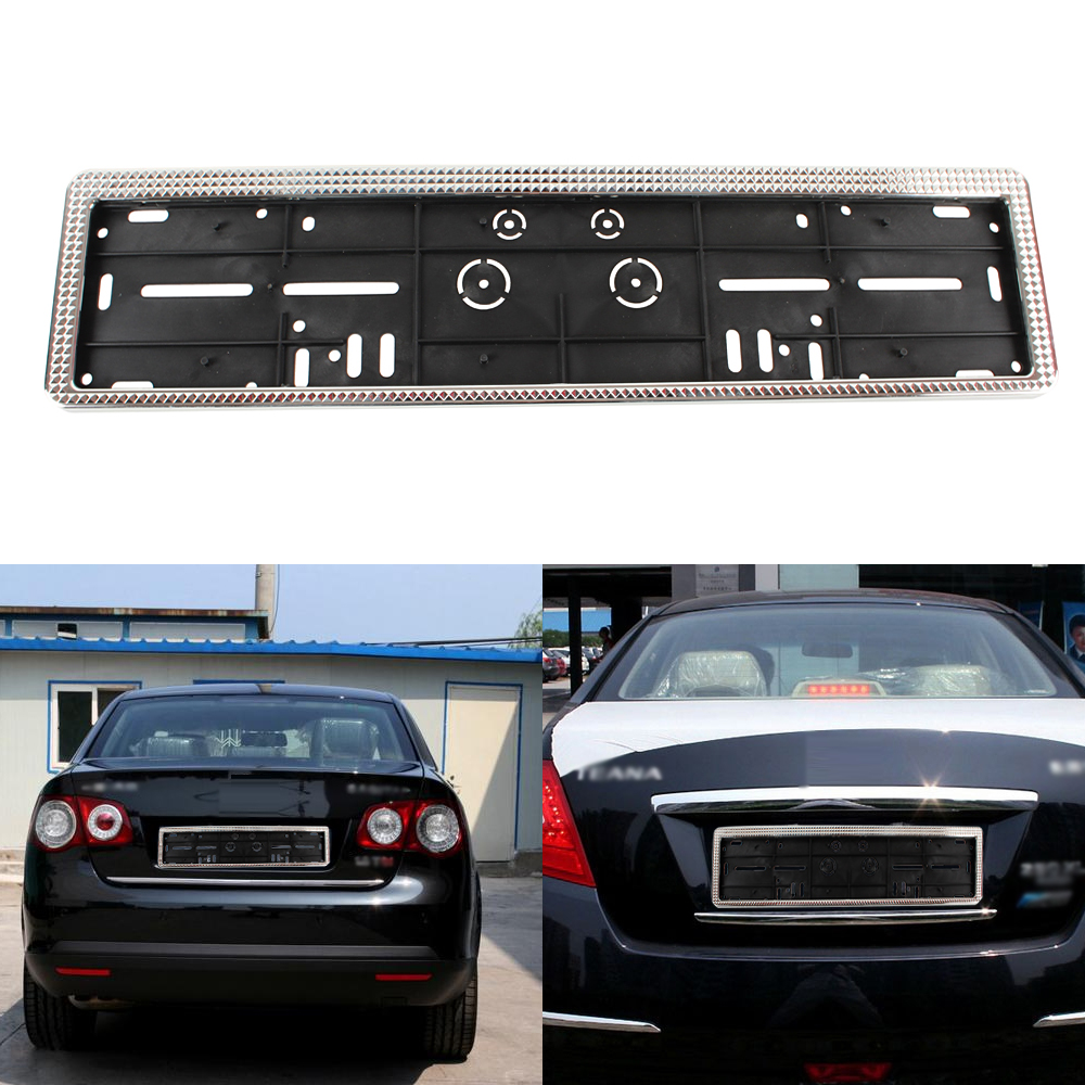 Image is loading 1pcs-European-EU-Car-Plastic-License-Plate-Frames-  sc 1 st  eBay & 1pcs European EU Car Plastic License Plate Frames Number Plate Frame ...