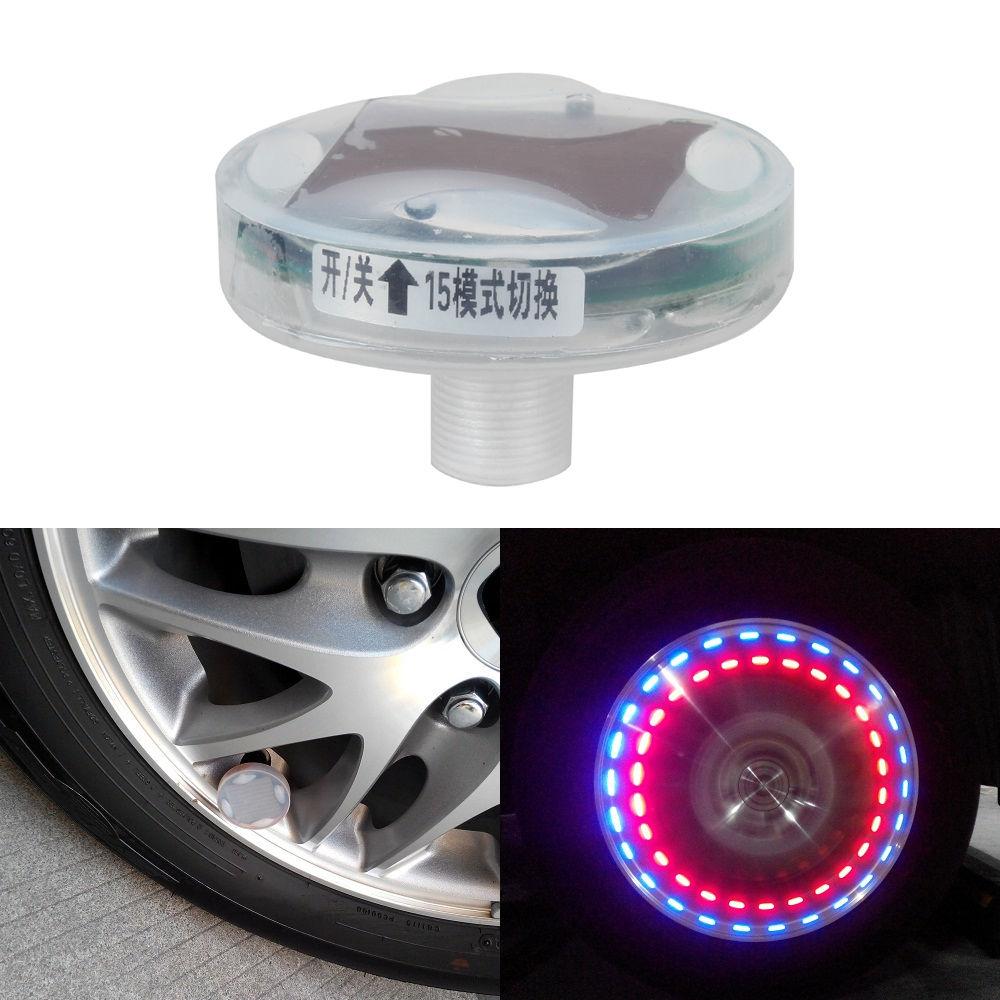 solar car wheel tire air valve cap light auto wheels decor. Black Bedroom Furniture Sets. Home Design Ideas