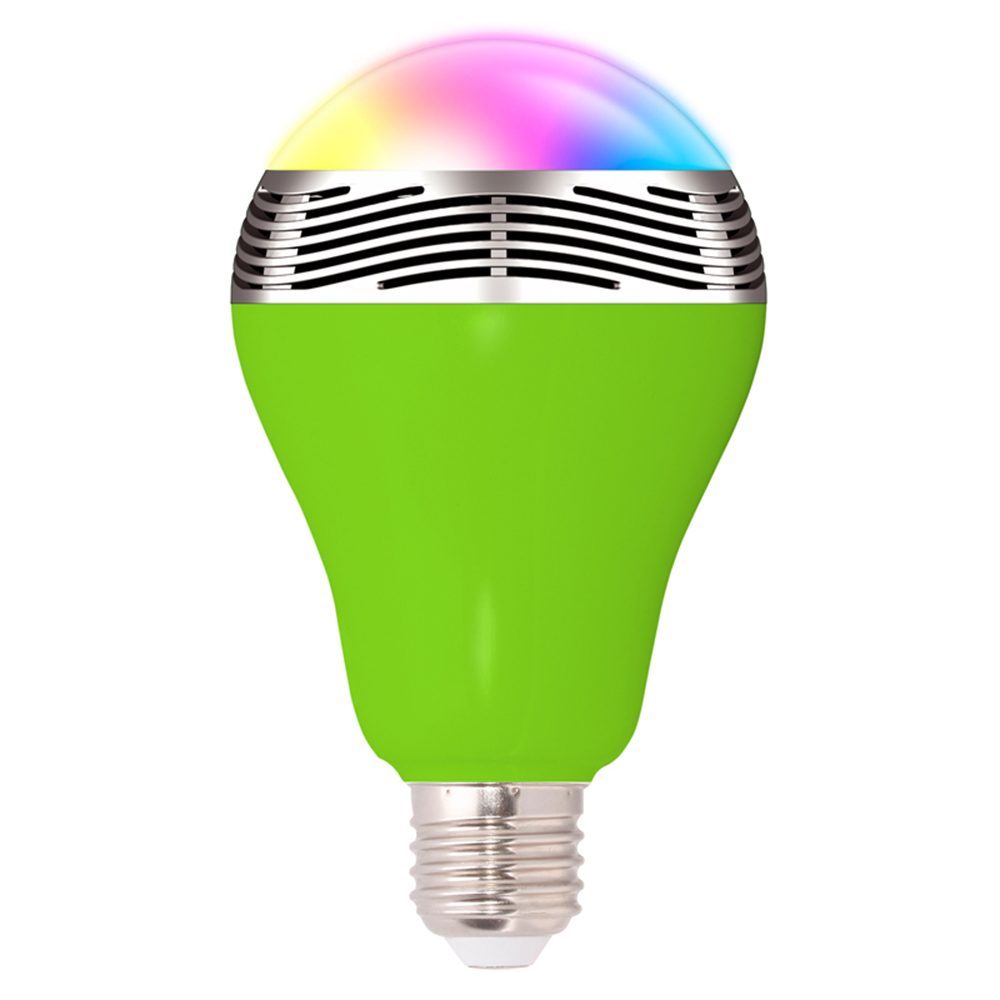 Home bluetooth control music audio speaker led rgb color for Bluetooth controlled light bulb