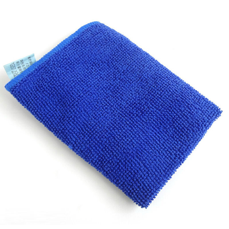 blue microfiber cleaning cloth cleaning towels pack of 5 ebay. Black Bedroom Furniture Sets. Home Design Ideas