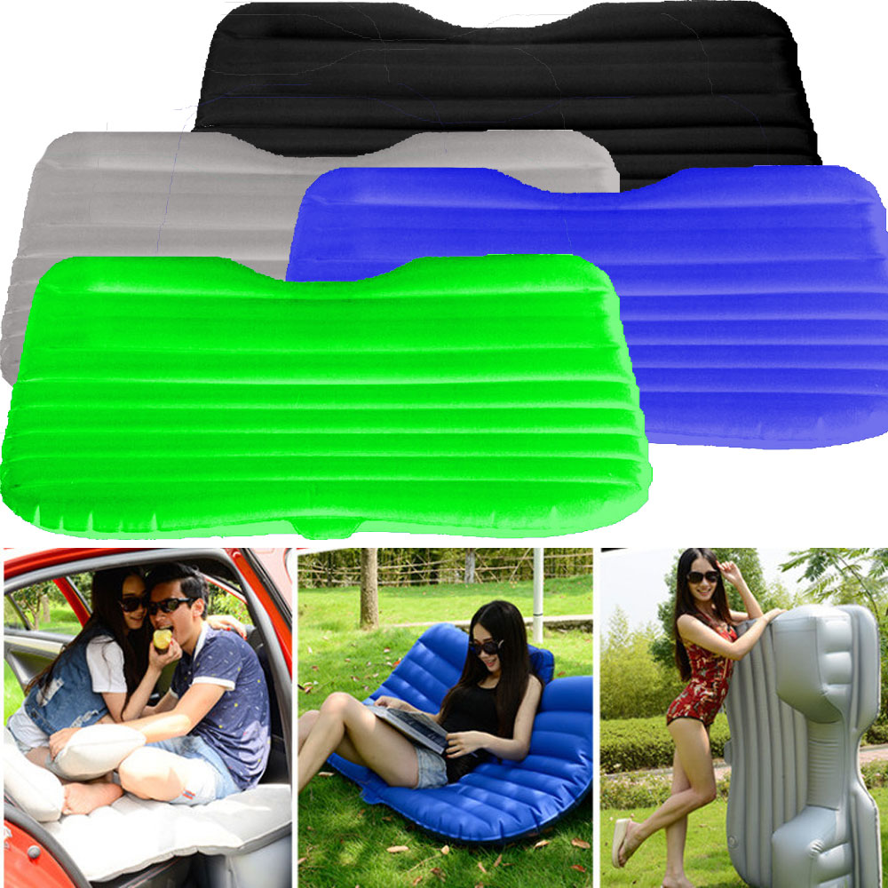inflatable car back seat air bed mattress with pillow top 20